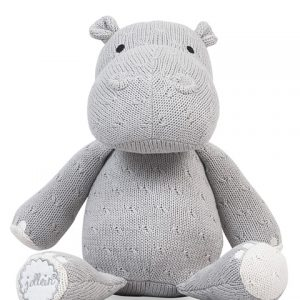 Knuffel Hippo Jollein Soft Knit Light Grey