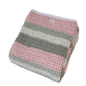 fair and cute wiegdeken gehaakt mixed light pink