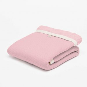 ledikantdeken winter fair and cute light pink