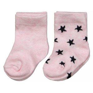Dirkje baby sokken roze met sterren