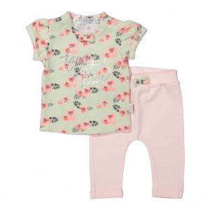 dirkje baby set mint light pink