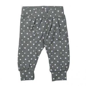 Dirkje baby broekje grijs witte sterren