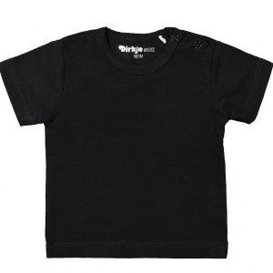 Dirkje baby basic T-shirt zwart