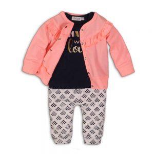Dirkje babysuit navy roze