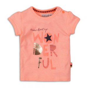 Dirkje T-shirt meisjes light neon coral