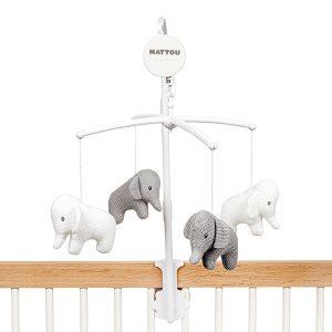 Nattou muziekmobiel olifant